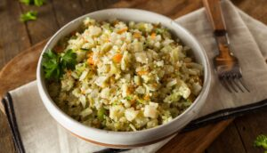 rice substitute recipes 1 300x172 - Organic Paleo Cauliflower Rice