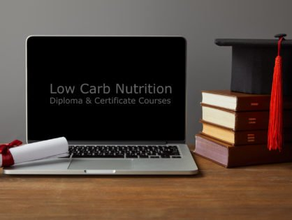 lowcarb nutrition course diploma 1 418x315 - A Comprehensive Support Model -- One-on-One and Peer-To-Peer -- With Dr. Sarala Chauhan