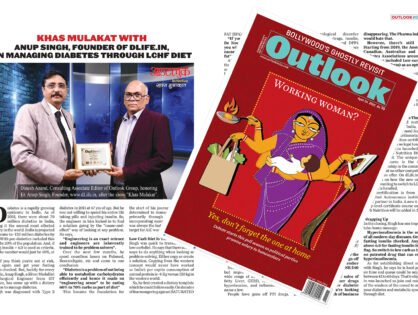 Outlook English Magazine dLife.in Coverage In April 19, 2021 Issue