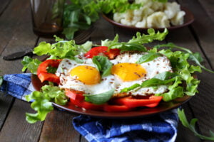 high protein 1 300x200 - fried eggs with herbs and paprika for breakfast